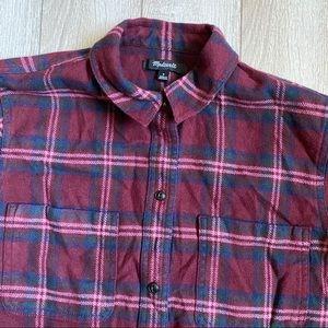 Madewell Tops - Madewell Shrunken Boyfriend Plaid Button up Shirt